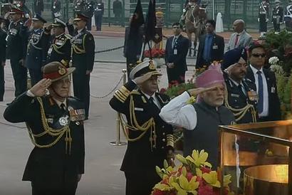 PM Modi at Amar Jawan Jyoti