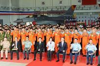 Tsai makes first military inspection