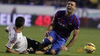 Granada suspend Barral after training ground bust-up
