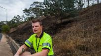 DHL Australia driver turns Good Samaritan by putting out fire on Black Mountain