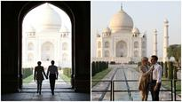 A mayur dance and a walk in the sunset: French President Emmanuel Macron and wife visit Taj Mahal