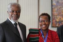 Sheffield Hallam student gives vote of thanks to Kofi Annan