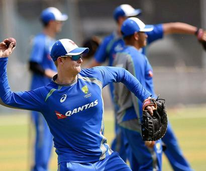 PHOTOS: Australians sweat it out in the nets in Mumbai