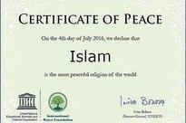Islam, Most Peaceful Religion in World: UNESCO