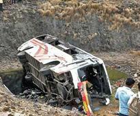 40 injured as bus falls off bridge in Gujarat
