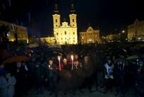 Hungarians protest tight government control of education