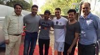 Ajinkya Rahane visits Film City, meets Akshay Kumar, Abhishek Bachchan