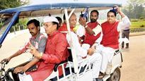 BJP legislators take to e-rickshaw, cycle after PM's Mann Ki Baat