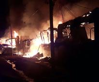 Kashmir Fire: Flames gut several shops and warehouses in Baramulla