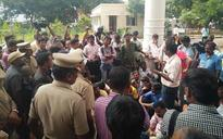 Journalists protest against police atrocity against photographer outside Chennai Commissioner's office