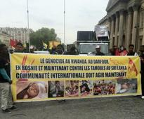 REPORT: FRANCE - SRI LANKA: Hundreds march in memory of Tamil victims in Paris