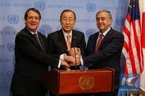 UN chief encourages Cypriot leaders to achieve settlement this year