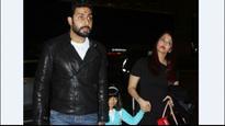 In Pics | Twinning in black, Abhishek Bachchan and Aishwarya Rai Bachchan head to Australia for his 42nd birthday bash