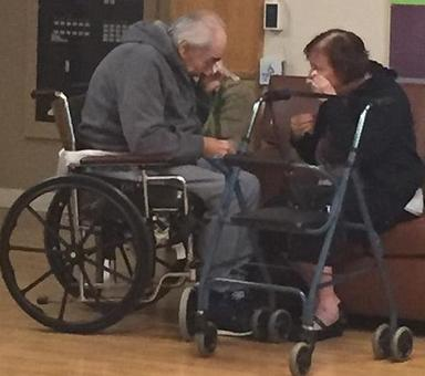 'Saddest photo I have ever taken': Elderly couple forced to separate