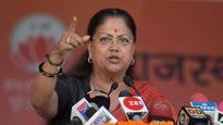 Vasundhara Raje finds a 'stone edge' at Jhunjhunu rally