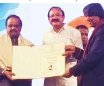 Balasubranium conferred the Centenary Award for Indian Film Personality of the Year