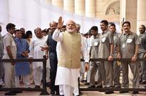 PM Modi walks to Opposition in Parliament, greets Sonia Gandhi
