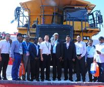 SANY India Launches SRT range of off-highway Dump Trucks at IMME 2016