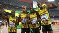 Usain Bolt wins sprint treble at Worlds after Jamaica win 4x100m relay