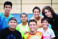 Mujahid wins U-18 tennis crown Mujahid Khan, Joud Al Azmeh, Taym Al Azmeh, Adil Khan, players of the Bay Cl...