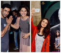 From Taking Selfies to Getting Playful, B-Town Stars Spotted Having Fun at the Pink Screening