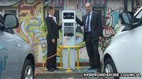 Electric car charge points installed