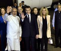 French Prez Emmanuel Macron arrives on 4-day visit