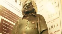 Abdul Kalam's chocolate sculpture installed