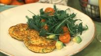 Tom Daley's cheesy ricotta and herb pancakes