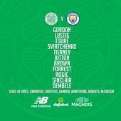 Champions League: Celtic v Man City starting XI's