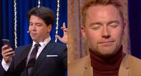 Michael McIntyre sends embarrassing text to all contacts from Ronan Keating's phone and Russell Crowe responds