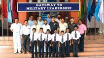 Tribal commission team visits Sainik school pupils