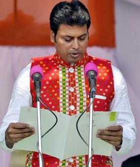 Biplab Deb takes oath as Tripura CM, Modi assures all help to the state