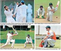 Jayasuriya bags five-for as bowlers toil