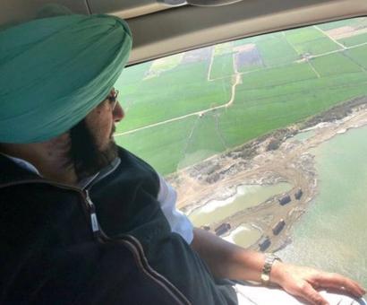 Amarinder spots illegal mining from chopper; crackdown follows