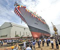 Navy launches most advanced warship