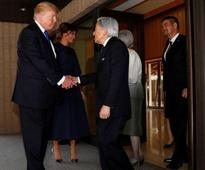 Pics: Trump greets Japanese emperor with a handshake but no bow