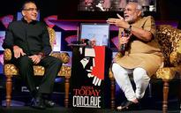 PM Modi wishes Aroon Purie on India Today TV launch