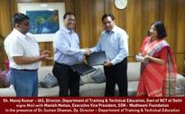 Wadhwani Foundation's SDN and DTTA Govt. of NCT of Delhi sign MoU