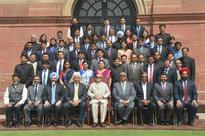 Pranab Mukherjee addresses Management students on Public Policy at ISB