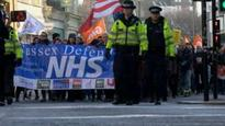 Hundreds attend Brighton protest to 'defend the NHS'