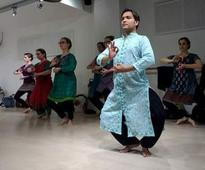 French belles dancing the Sambalpuri folk dance Dalkhai?