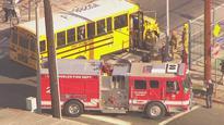 Railroad Crossing Arm Smashes L.A. School Bus Windows