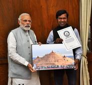 Renowned sand artist Sudarsan Pattnaik met Prime Minister Narendra Modi