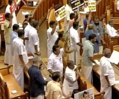 Kerala CM presents budget amid protests by Opposition