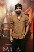 Ashokselvan strikes a pose for the shutterbugs at the premiere of BajiRao Mastani at Sathyam Cinemas, Chennai