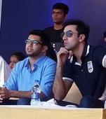 Ranbir Kapoor celebrates Janamashtami with fervour