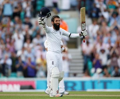 Oval Test: Moeen Ali's third century leads England revival