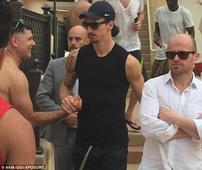 PSG stars Zlatan Ibrahimovic, Marco Verratti and Javier Pastore celebrate French League Cup with bikini-clad women in Las Vegas