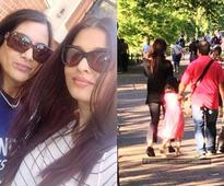 PIC: Aishwarya Rai Bachchan takes Aaradhya out for a stroll in London